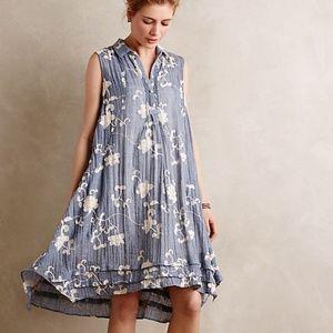 Anthropologie embroidered Tillie shirt dress M